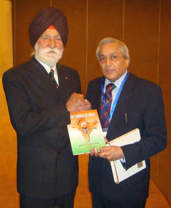 Dr. Rami Ranger With Marshal of the Indian Air Force Arjan Singh, DFC.
