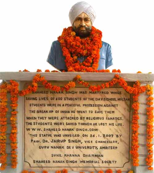 The Punjab Government unveils the statue of Shaheed Nanak Singh
